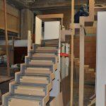 Scheletro della scala in legno
